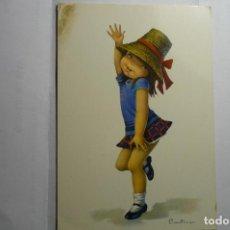 Postales: POSTAL NIÑA BAILANDO .-DIBUJO CONSTANZA -ESCRITA. Lote 151443998