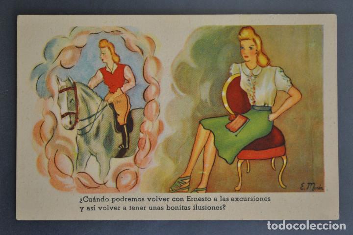 TARJETA POSTAL- DIBUJOS Y CARICATURAS.E.MORÁN Nº38 NC (Postales - Dibujos y Caricaturas)
