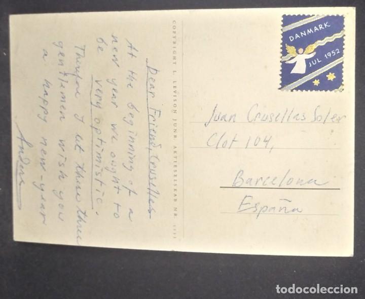 Postales: 1952 Circulada desde DInamarca. Ver sello. - Foto 3 - 151814850