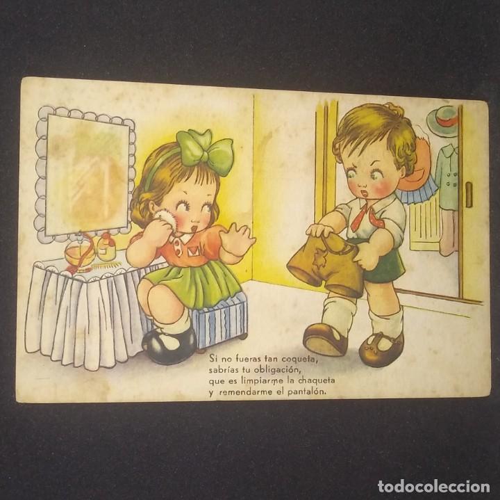 Postales: 1945 Si no fueras tan coqueta, sabrias tu obligación, que es limpiarme la chaqueta y remendarme... - Foto 2 - 151817062