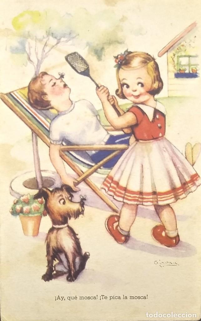1949 MELODÍAS SELECTAS. LA MOSCA. ¡AY, QUE MOSCA! ¡TE PICA LA MOSCA! SERIE 140 (Postales - Dibujos y Caricaturas)