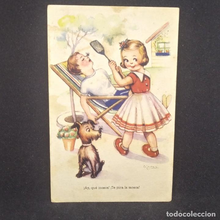 Postales: 1949 Melodías selectas. La mosca. ¡Ay, que mosca! ¡Te pica la mosca! Serie 140 - Foto 2 - 151818326