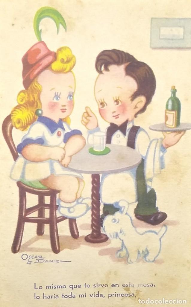 1947 ESTAMPERIA RAM. SERIE 19. OSCAR DANIEL (Postales - Dibujos y Caricaturas)