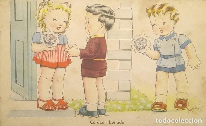 1948 ÉXITOS DE LA PANTALLA. SERIE 105. COLECCIÓN G. IKON. CORAZÓN BURLADO (Postales - Dibujos y Caricaturas)