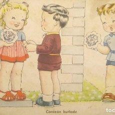 Postales: 1948 ÉXITOS DE LA PANTALLA. SERIE 105. COLECCIÓN G. IKON. CORAZÓN BURLADO. Lote 151821598