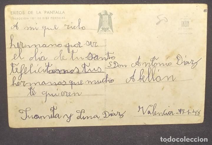 Postales: 1948 Éxitos de la pantalla. Serie 105. Colección G. Ikon. Corazón burlado - Foto 3 - 151821598