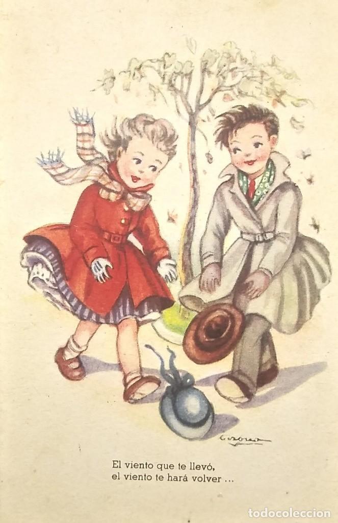 1952 MELODÍAS SELECTAS COLECCIÓN I. EL VIENTO. ILUSTRADOR GIRONA. SERIE 153 (Postales - Dibujos y Caricaturas)