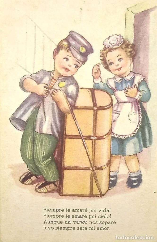 MELODÍAS SELECTAS. SERIE E. SIEMPRE TE AMARÉ. SERIE 144 (Postales - Dibujos y Caricaturas)
