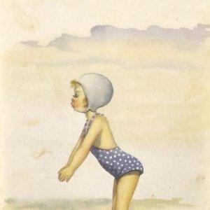 1949 Serie 157/4. Niña en bañador