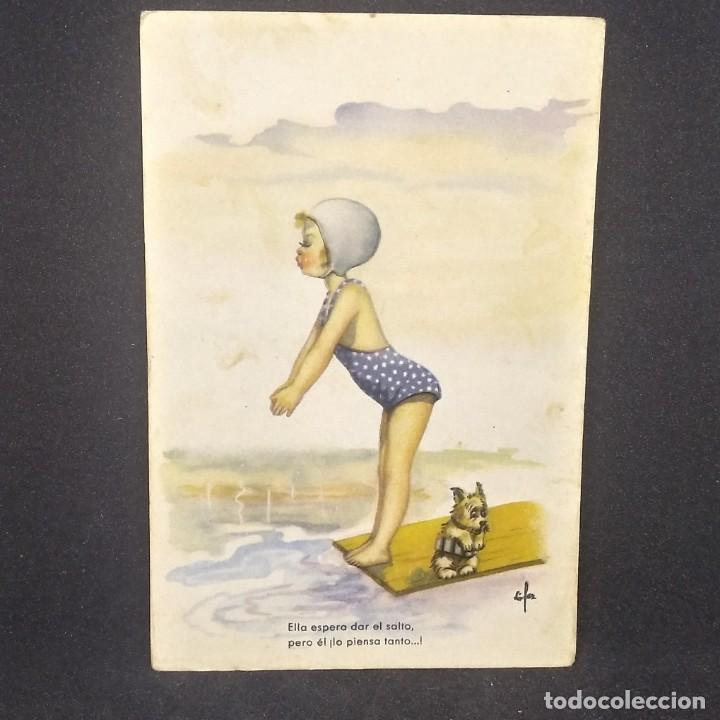 Postales: 1949 Serie 157/4. Niña en bañador - Foto 2 - 151877890