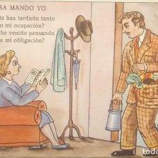 Postales: 1948 EN MI CASA MANDO YO. ILUSTRADA POR LL.GISMERO. POSTALES BEA. SERIE VII. Lote 151879730
