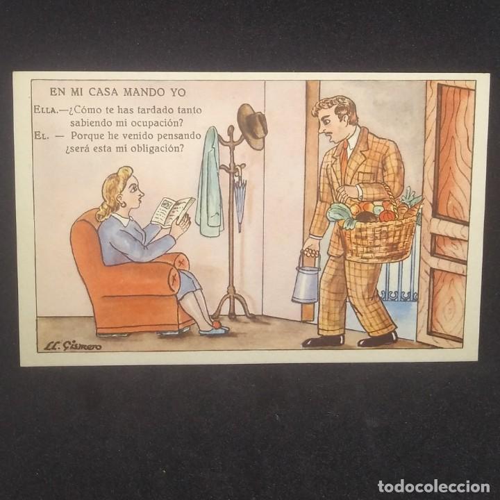 Postales: 1948 En mi casa mando yo. Ilustrada por LL.Gismero. Postales Bea. Serie VII - Foto 2 - 151879730