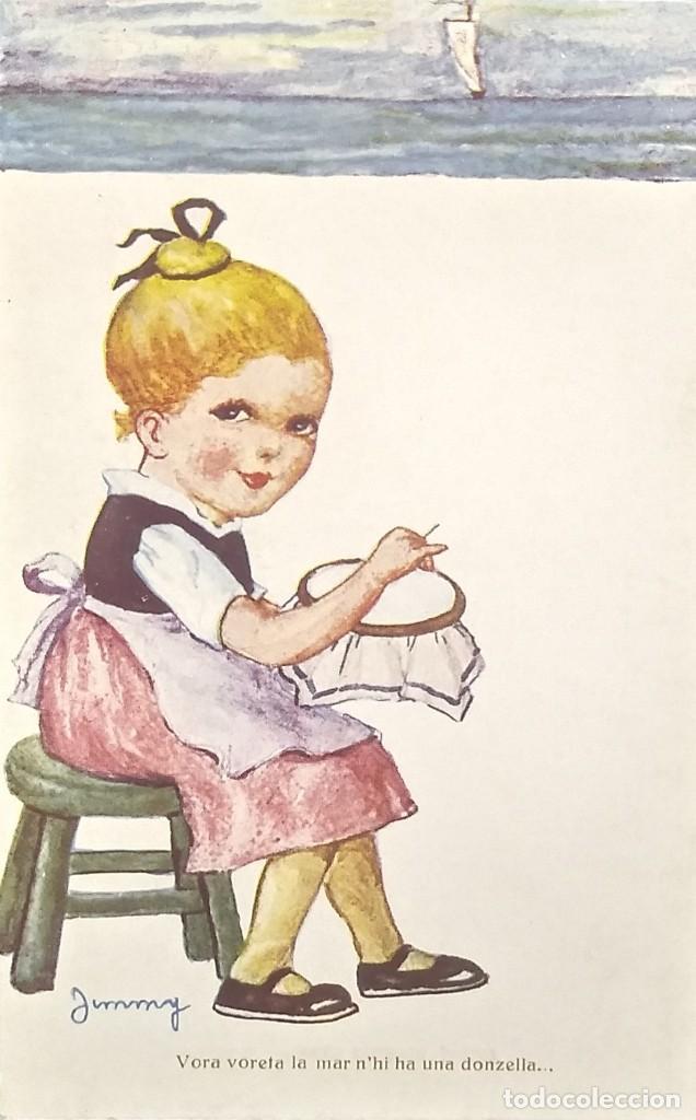 Nº 1156 CANÇO CATALANA. JIMMY. VORA VORETA LA MAR N'HI HA UNA DONZELLA (Postales - Dibujos y Caricaturas)