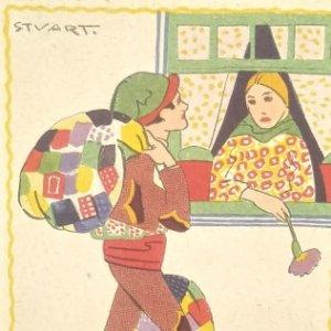 Postal portuguesa ilustrada por Stuart