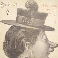 Postales: 1906 BELLEZAS FEMENINAS 5662 CIRCULADA. CONCURSO DE BELLEZA 1906. Lote 151882926