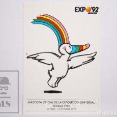 Postales: POSTAL PUBLICITARIA EXPO SEVILLA 92 - 3. CURRO VOLANDO. MASCOTA OFICIAL EXPOSICIÓN UNIVERSAL 1992. Lote 153671690