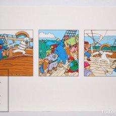 Postales: POSTAL PUBLICITARIA EXPO SEVILLA 92 - AVENTURAS DE CURRO / PIRATA - ED. BLUE COW - AÑO 1992. Lote 153671910