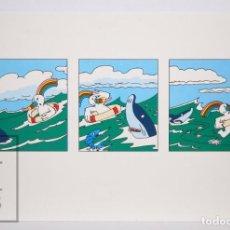 Postales: POSTAL PUBLICITARIA EXPO SEVILLA 92 - AVENTURAS DE CURRO / EN EL MAR - ED. BLUE COW - AÑO 1992. Lote 153671994