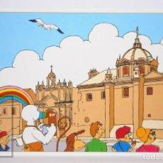 Postales: POSTAL PUBLICITARIA EXPO SEVILLA 92 - AVENTURAS DE CURRO / TURISTA - ED. BLUE COW - AÑO 1992. Lote 153672558