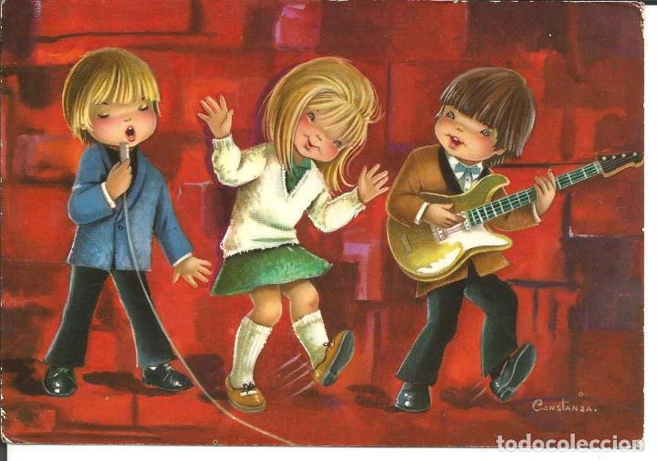 POSTAL CONSTANZA - GRUPO MUSICAL - AÑO 1967 (Postales - Dibujos y Caricaturas)