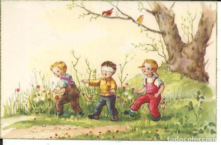 POSTAL M.R.G. ? (Mª ROSA GARCIA) - ED. ANCLA 2105/A - AÑO 1958 (Postales - Dibujos y Caricaturas)