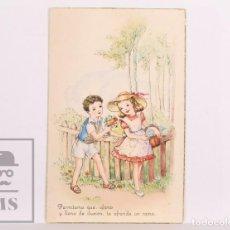 Postales: POSTAL INFANTIL ILUSTRADA - CIMA, 503. PERMÍTEME QUE, UFANO Y LLENO DE... - ESCRITA DORSO, 1948. Lote 156499354