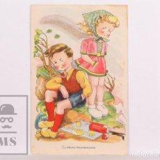 Postales: POSTAL INFANTIL ILUSTRADA POR BOMBÓN - ÉXITOS DE LA PANTALLA. A, SERIE 68. CUMBRES BORRASCOSAS. Lote 156502710