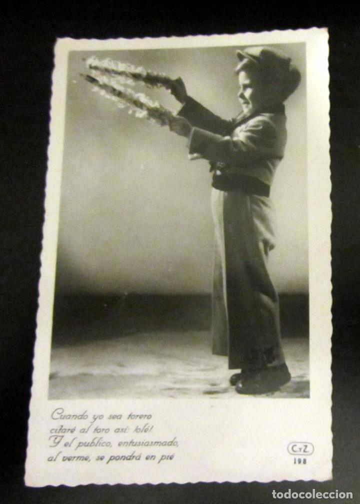 POSTAL ANTIGUA ESPAÑA POST CARD NIÑO TORERO (Postales - Dibujos y Caricaturas)