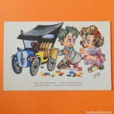 Postales: PAREJA Y COCHE - TARJETA POSTAL ESCRITA EN 1948. Lote 156841042