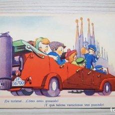 Postales: POSTAL DE EDICIONES TRIO DEL AÑO 44. CIRCULADA. Lote 156972062