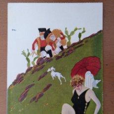 Postales: POSTAL ILUSTRACION T.SINI -SUSANNA E I DUE VECHI- CIRCULADA 1930. ART DECO ITALIA. Lote 156999362