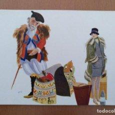 Postales: POSTAL ILUSTRACION T.SINI -I LORO BAGAGLI- CIRCULADA 1930. ART DECO ITALIA. Lote 157363322