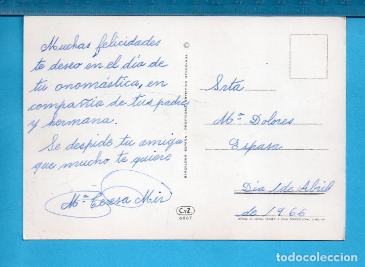 Postales: postal de niño con perro dibujo de narcot editada c y z escrita el año 1966 - Foto 2 - 157826098