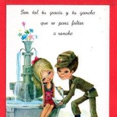Postales: POSTAL DE NIÑA Y NIÑO EL SOLDADO DIBUJO DE M. RIORES EDITADA C Y Z ESCRITA EL AÑO 1967 GASTOS DE EN. Lote 157826314