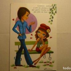 Postales: POSTAL NOVIOS -DIBUJO ALAIN ESCRITA. Lote 158142598