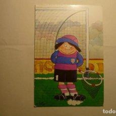 Postales: POSTAL FUTBOL DIBUJO TELLO -ESCRITA. Lote 158315518