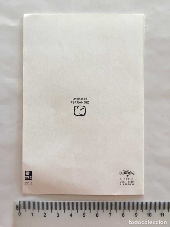 Postales: FELICITACIÓN NAVIDAD. DIPTICO. ILUSTRACIÓN FERRANDIZ. SUB. H. 1980? - Foto 2 - 158360340