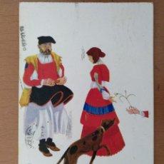 Postales: POSTAL ILUSTRACION T.SINI -IL GAROFANO- CIRCULADA 1930. ART DECO ITALIA. Lote 158399398