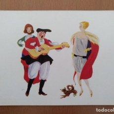 Postales: POSTAL ILUSTRACION T.SINI -UNU MUTTETU- CIRCULADA 1930. ART DECO ITALIA. Lote 158399478