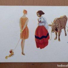 Postales: POSTAL ILUSTRACION T.SINI -LORO AMICI- CIRCULADA 1930. ART DECO ITALIA. Lote 158399682