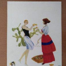 Postales: POSTAL ILUSTRACION T.SINI -IL FRUTO ESOTICO- CIRCULADA 1930. ART DECO ITALIA. Lote 158399794