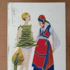 Postales: POSTAL ILUSTRACION T.SINI -LE GAMBINE NUDE- CIRCULADA 1930. ART DECO ITALIA. Lote 158399874