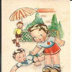Postales: POSTAL BOMBÓN - EL ARTE DE PATINAR - ED. CMB, SERIE 83 - AÑO 1948. Lote 160074246