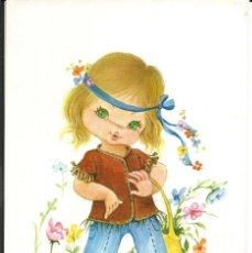 Postales: POSTAL NUCO (NURIA BARÓ) - NIÑA HIPPY - EDIC. CYZ, 6100-A. Lote 160170098