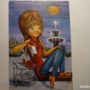Postales: POSTAL DIBUJO JOVEN - OLIVA -ESCRITA. Lote 160543618