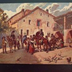 Postales: LA CUADRILLA DE DON QUIJOTE EN LA VENTA. ED AMBOS MUNDOS Nº 11.. Lote 160791296