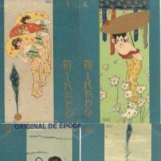 Postales: (PS-60189)SERIE DE 6 POSTALES COMPLETA RAPHAEL KIRCHNER ART NOUVEAU MIKADO ASIA. Lote 161671414