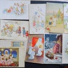 Postales: 17 POSTALES DE NIÑOS RELIGIOSAS, DE LOS AÑOS 40 Y 50. VER FOTOGRAFIAS. Lote 161704654
