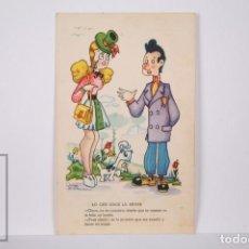 Postales: POSTAL INFANTIL ILUSTRADA POR ÓSCAR DANIEL - LO QUE HACE LA MUJER - SERIE 794 - ESCRITA AL DORSO. Lote 162585054