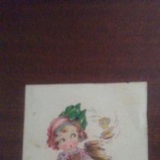 Postales: POSTAL AÑOS 50 ,LA MUÑECA ES TIPO MARI PEPA MENDOZA. Lote 163379636